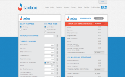 TaxBox online calculator